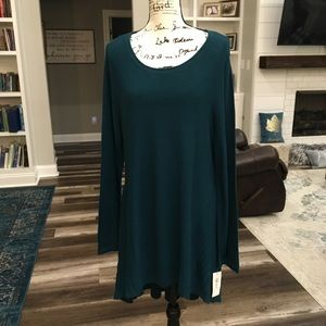 Style & Co | Peacock Teal Tunic Sweater Long